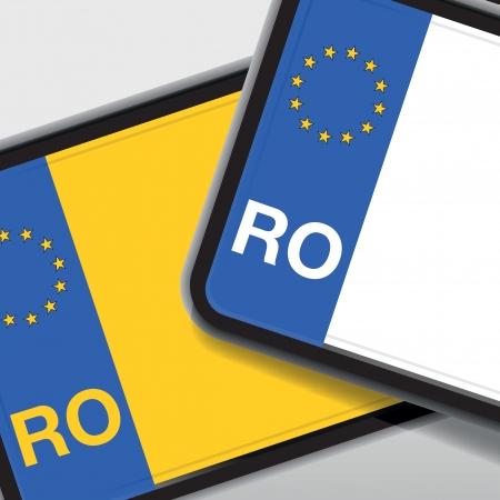 license plate: romanian car registration Illustration