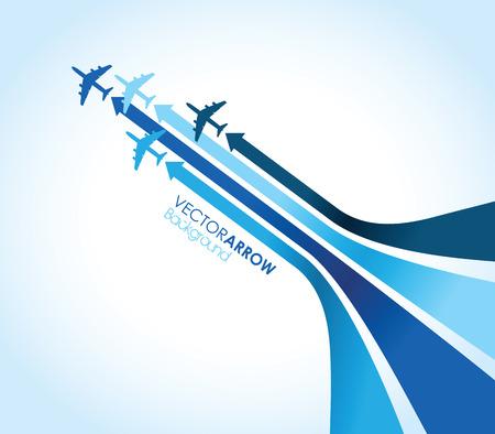 파란색 배경 비행기