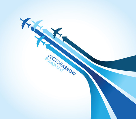 blue airplane background Imagens - 24348514