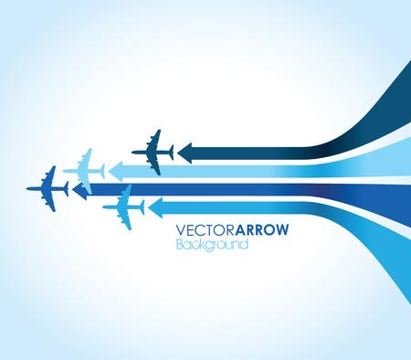 avion bleu Illustration