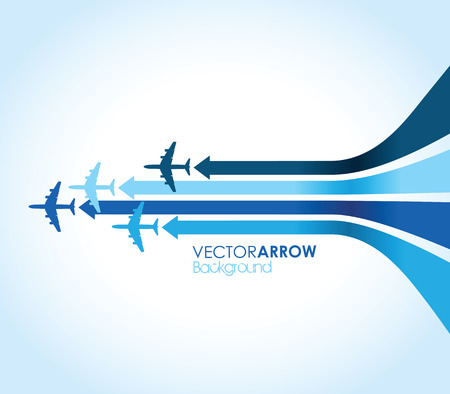 blue airplane background Vector