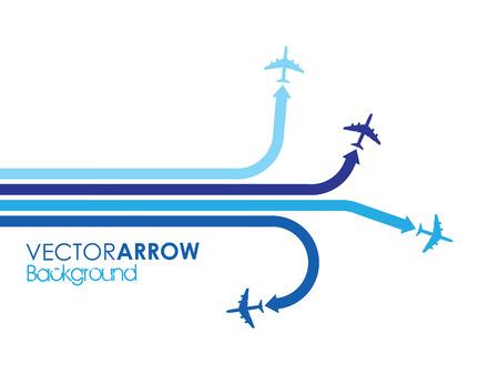 blue airplane background