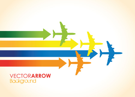 colourful airplane background Vector