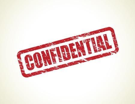 secretive: confidential stamp Illustration