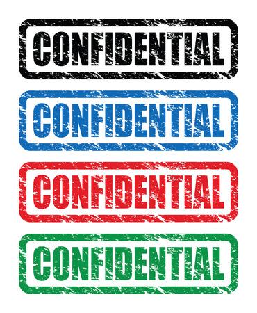 secretive: confidential stamps