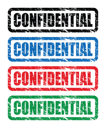 confidential stamps Stock Vector - 24348532