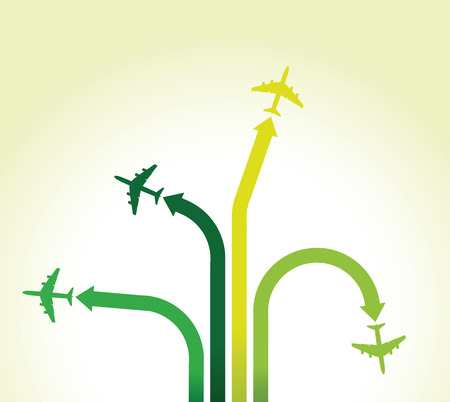 green airplane background Vector