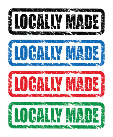 home grown: locally made stamps Illustration