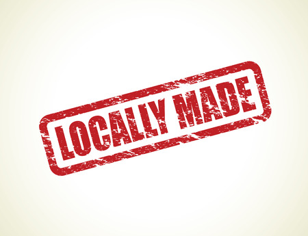 home grown: locally made stamp