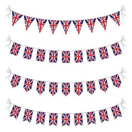 英国の旗布のセット