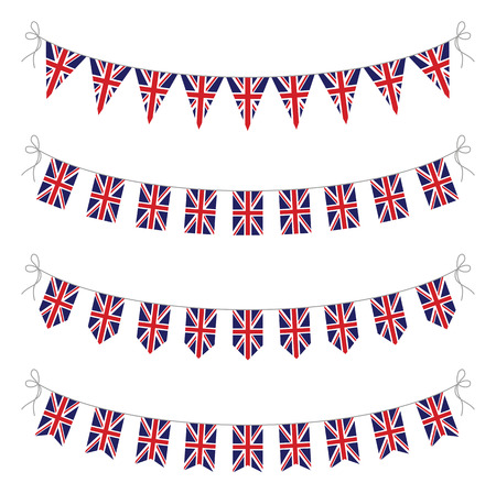 union jack: set of uk bunting