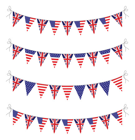 usa bunting set Vector