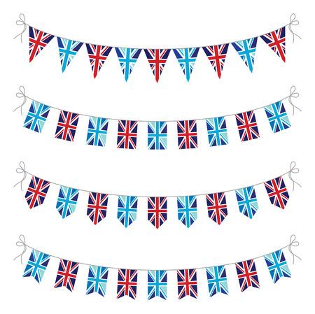 queens jubilee: set of uk bunting