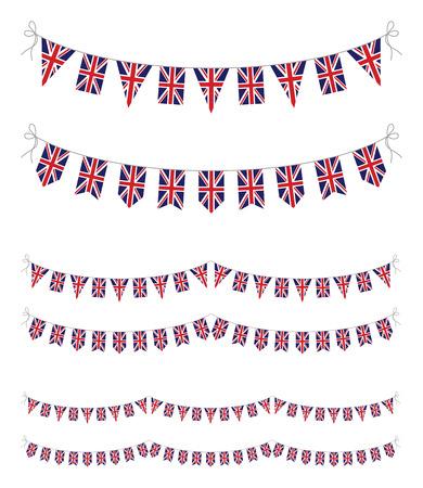 英国の旗布のセット 写真素材 - 24990846