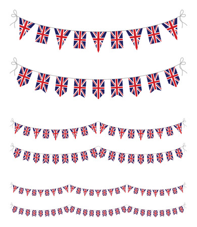 bunting flag: set of uk bunting