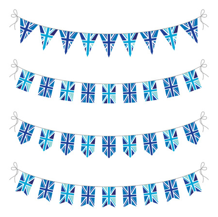 set of uk bunting Vector