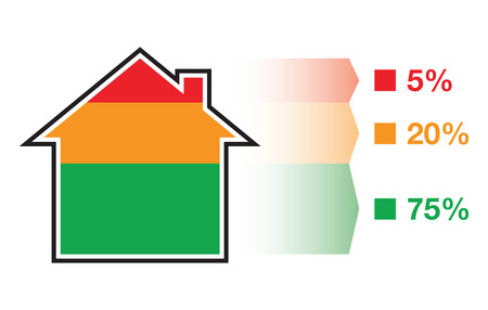 house in sections Vector