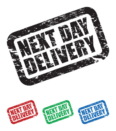 next day: set of next day delivery stamps Illustration