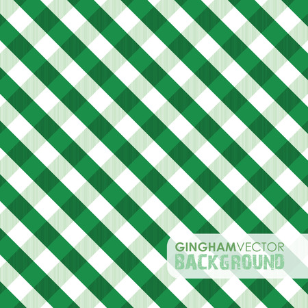 picnic blanket: green gingham background