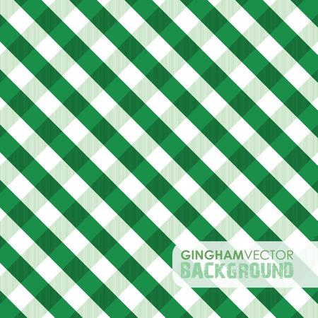 gingham: green gingham background