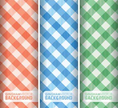 multicoloured gingham background Vector