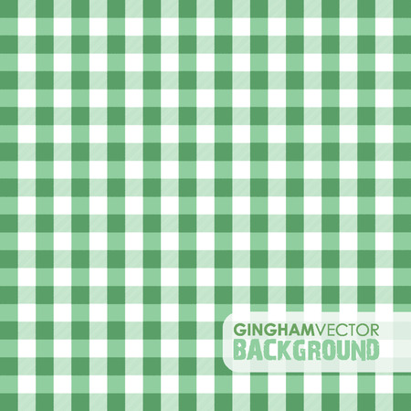 green gingham background Vector