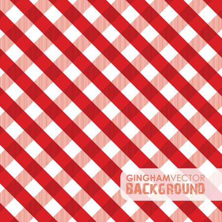 picnic basket: red gingham background