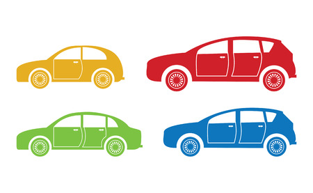 set of four cars Vector