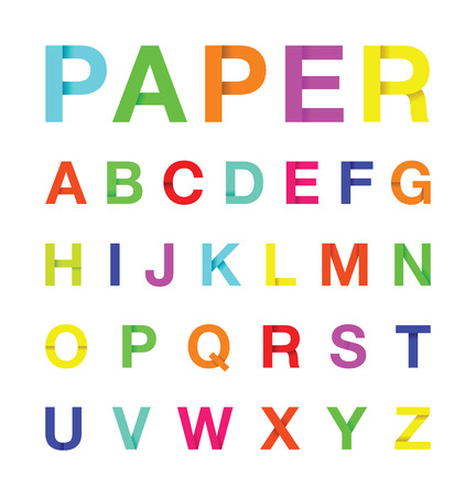 paper alphabet text Vector