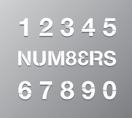 paper number text Vector