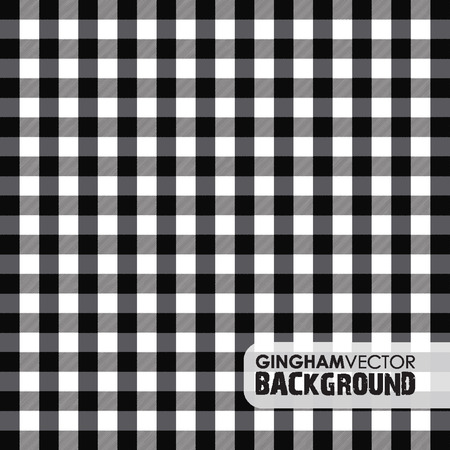 black gingham background Ilustrace