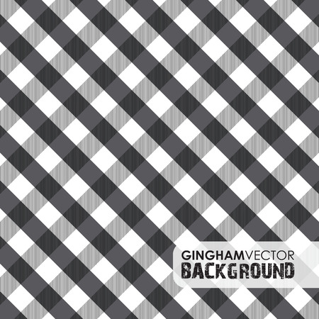 picnic tablecloth: black gingham background Illustration