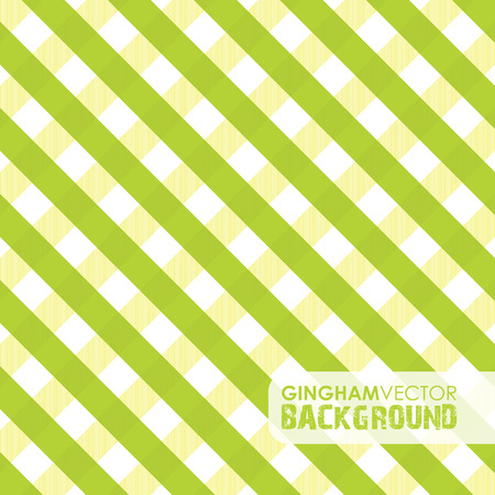 lime green gingham background Vector