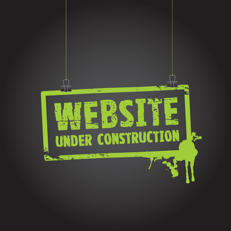 building construction site:  website under construction sign Illustration