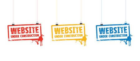 website under construction signs Vector