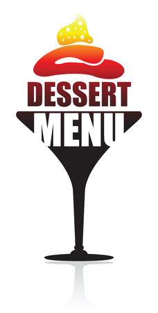 detain: dessert menu background Illustration