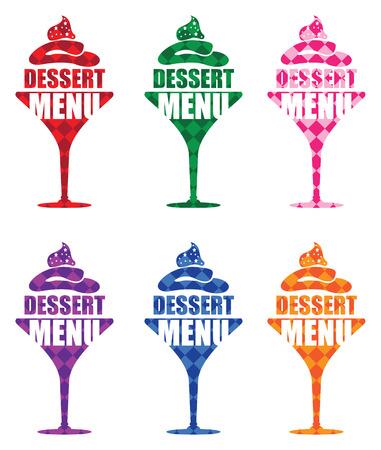 dine: dessert menu background Illustration