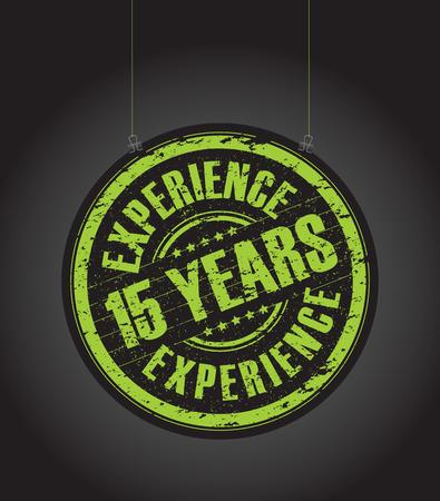 경험: 매달려 15 년 경험 스탬프