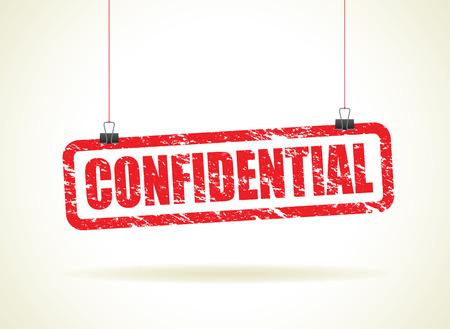 secretive: confidential hanging sign