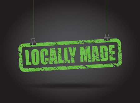 locally hanging sign Vector