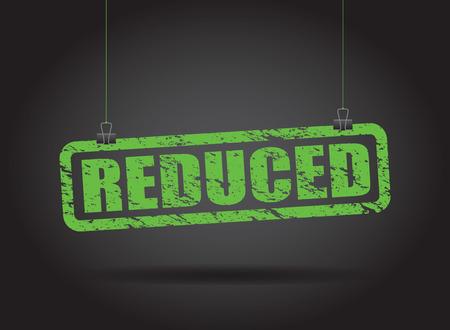 reduced: reduced hanging sign Illustration