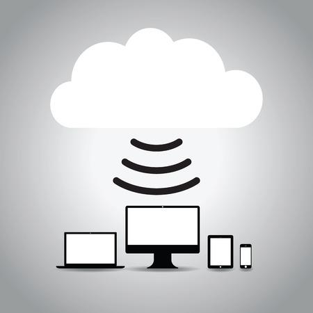 synchronizing: technology cloud background