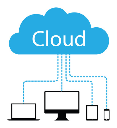 technology cloud background Vector