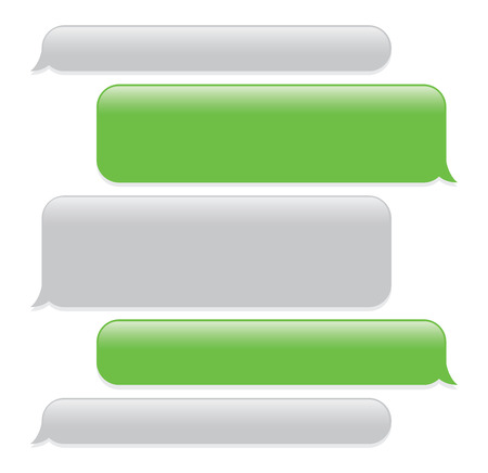a green mobile phone text messaging screen