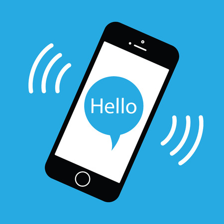 the phone rings: mobile phone ringing