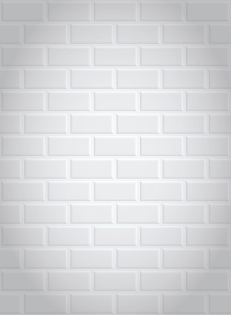 seamless a white brick wall with shading in the corners Vector