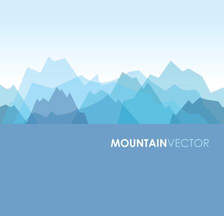 青い重複緑山背景画像