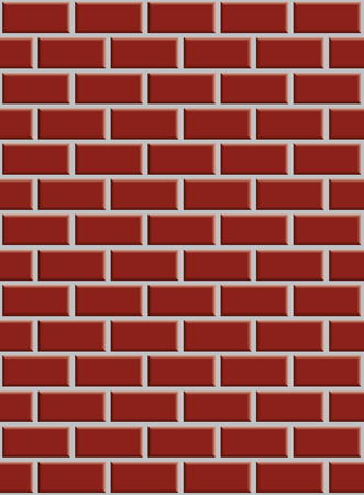 rectangle patterns: seamless a red brick wall with shading in the corners Illustration