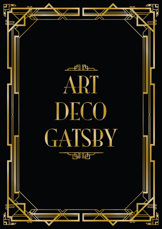 gatsby art deco background Ilustracja