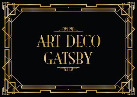 gatsby art deco background Vectores